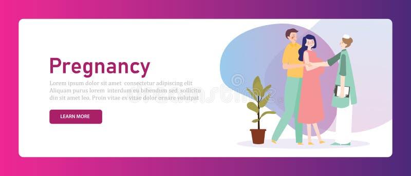 Προγενέθλιος έλεγχος μητέρων εξέτασης εγκυμοσύνης Mom επάνω στην προετοιμασία μητρότητας υγείας ελεύθερη απεικόνιση δικαιώματος