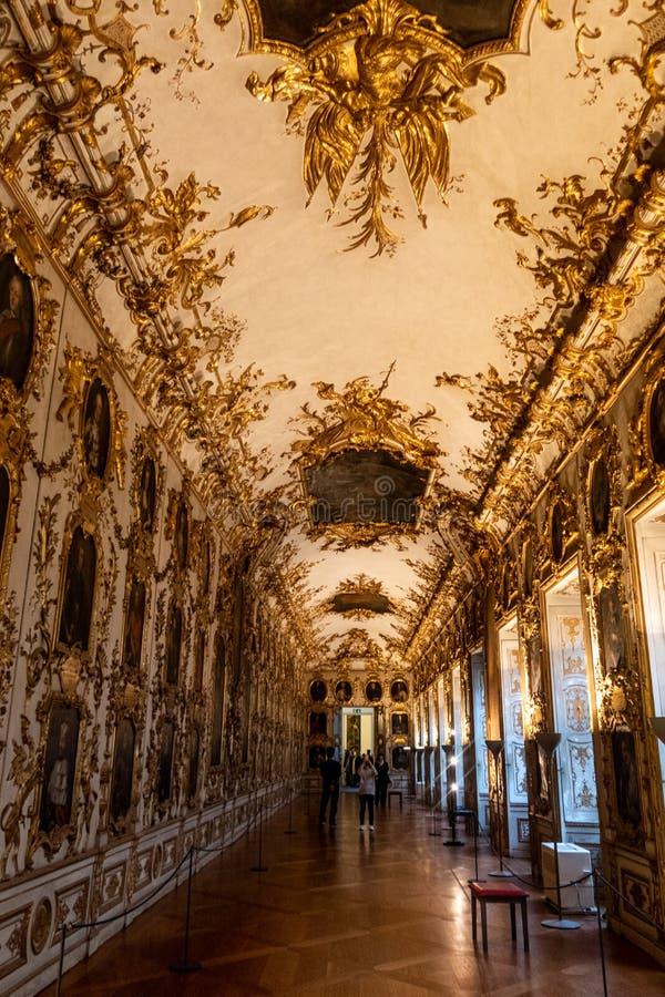 Προγονική στοά, κατοικία München Residenz, Γερμανία του Μόναχου στοκ εικόνες με δικαίωμα ελεύθερης χρήσης