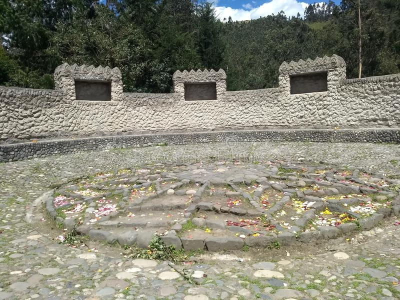 Προγονικός ναός Peguche στοκ εικόνα με δικαίωμα ελεύθερης χρήσης