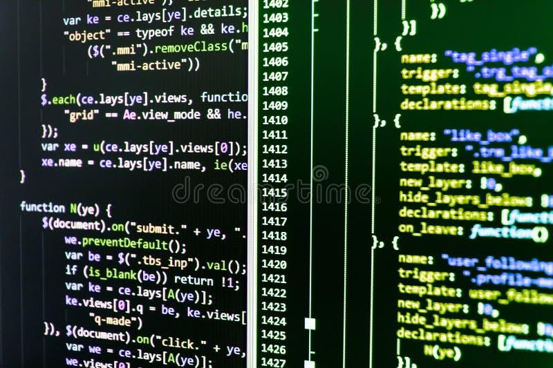 Προγραμματίζοντας αφηρημένη τεχνολογία κώδικα διανυσματική απεικόνιση