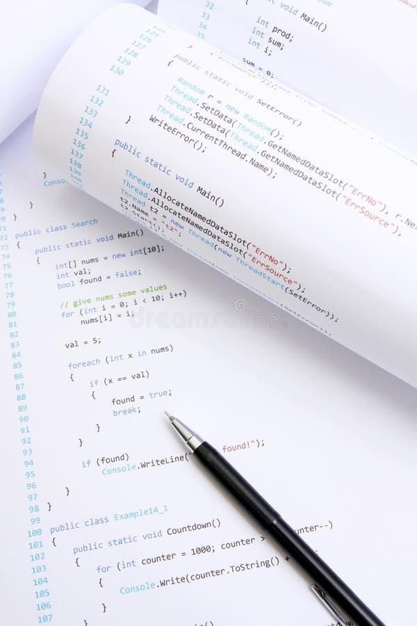 προγραμματισμός κώδικα στοκ φωτογραφία