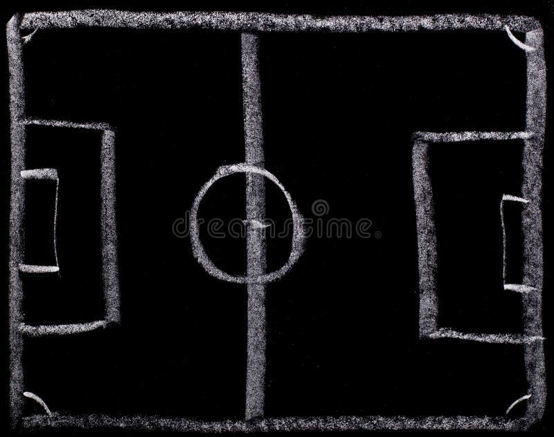Προγραμματισμός στρατηγικής ποδοσφαίρου στον πίνακα στοκ φωτογραφία με δικαίωμα ελεύθερης χρήσης