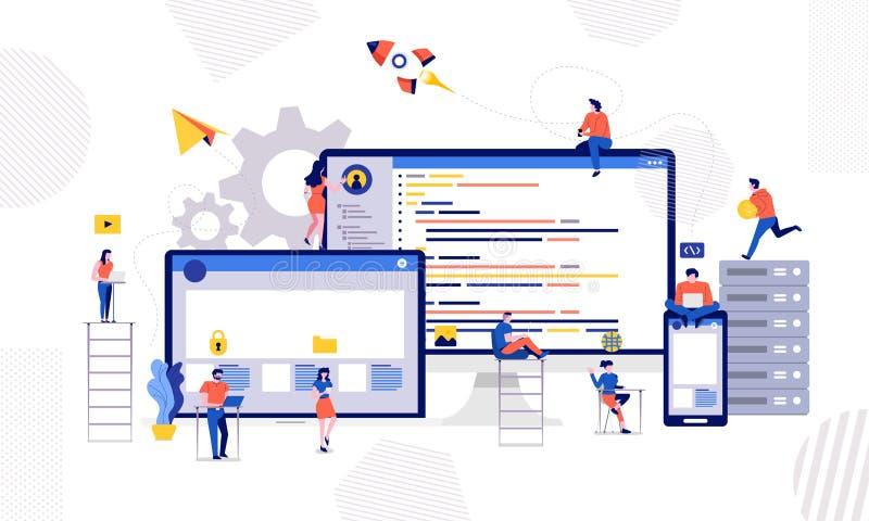 Προγραμματιστής υπεύθυνων για την ανάπτυξη διανυσματική απεικόνιση