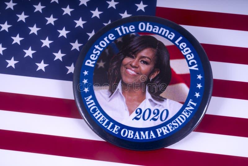 Προεδρικός υποψήφιος της Michelle Obama 2020 στοκ εικόνες