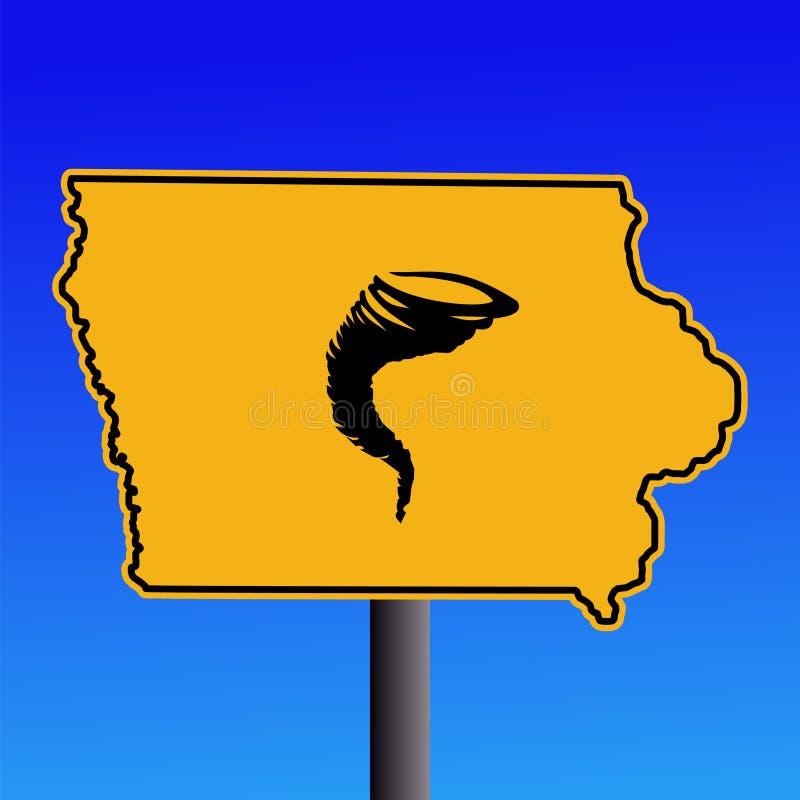 προειδοποίηση ανεμοστροβίλου σημαδιών του Iowa διανυσματική απεικόνιση