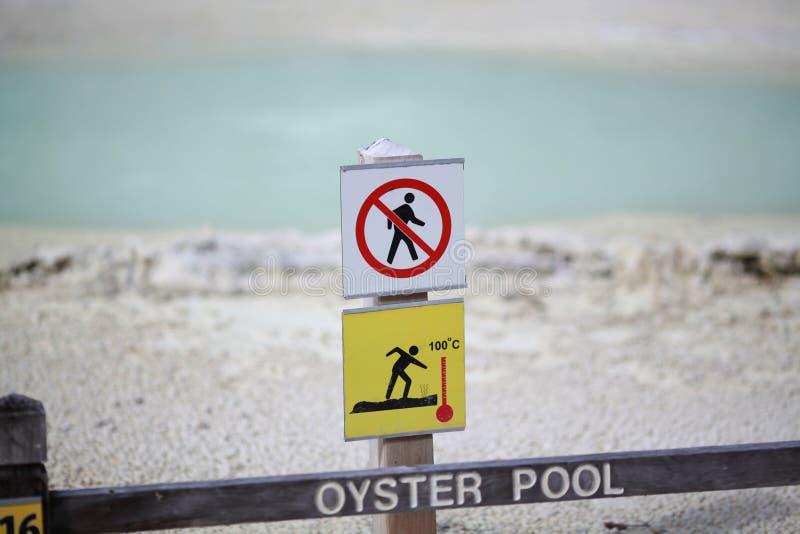 Προειδοποίηση σημαδιών στη διάβαση πεζών στοκ φωτογραφία