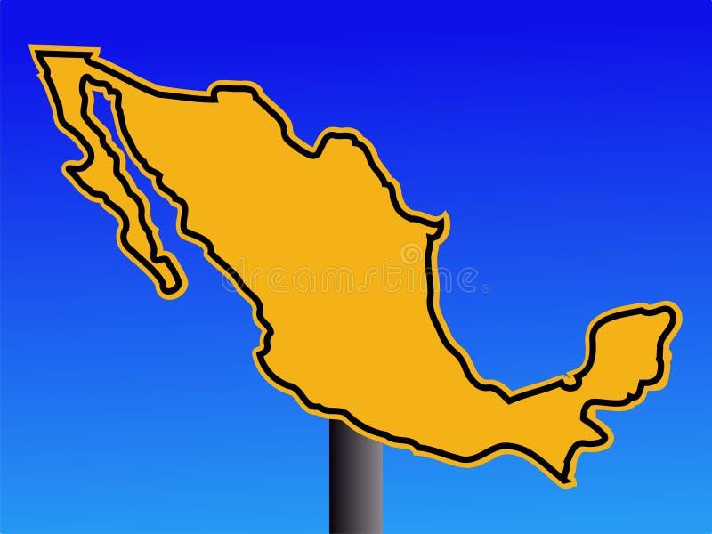 προειδοποίηση σημαδιών του Μεξικού απεικόνιση αποθεμάτων