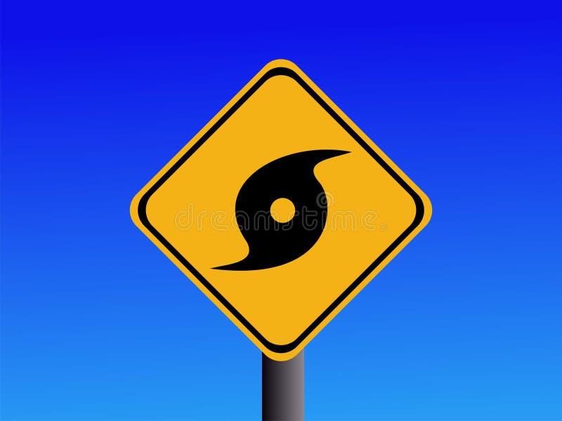 προειδοποίηση σημαδιών τυφώνα διανυσματική απεικόνιση