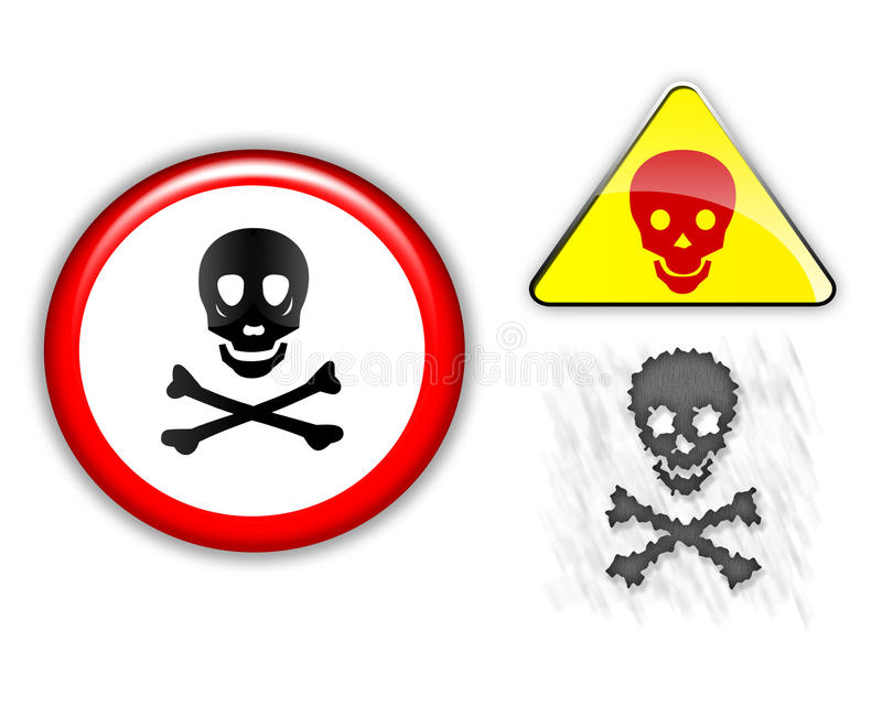 Download προειδοποίηση σημαδιών απεικόνιση αποθεμάτων. εικονογραφία από κρανίο - 13175581