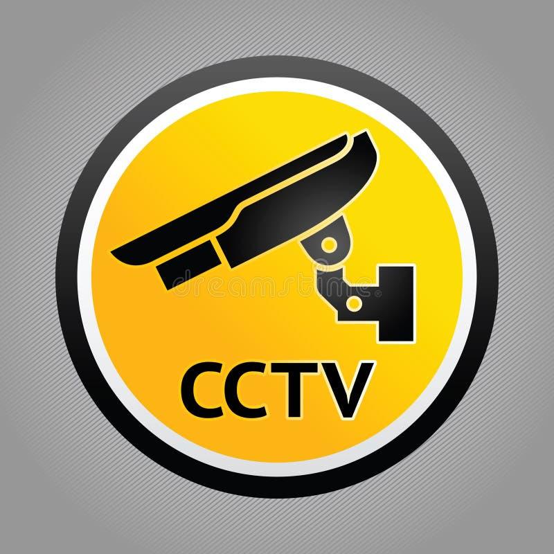 προειδοποίηση συμβόλων επιτήρησης φωτογραφικών μηχανών διανυσματική απεικόνιση