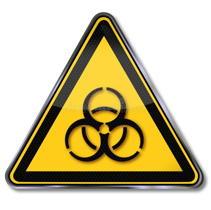 Προειδοποίηση των biohazards διανυσματική απεικόνιση