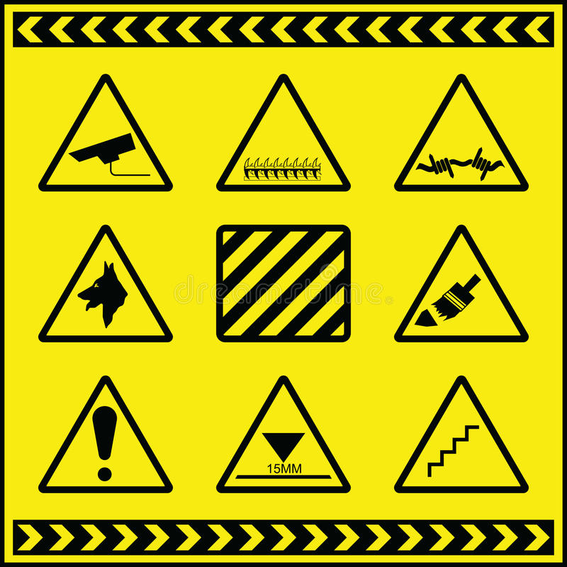 προειδοποίηση 2 σημαδιών &kapp διανυσματική απεικόνιση