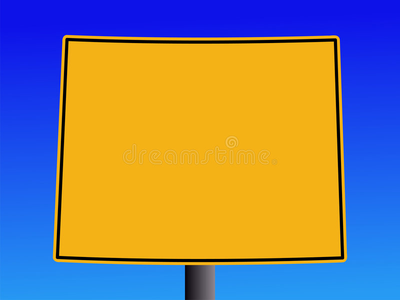 προειδοποίηση Wyoming σημαδιών ελεύθερη απεικόνιση δικαιώματος
