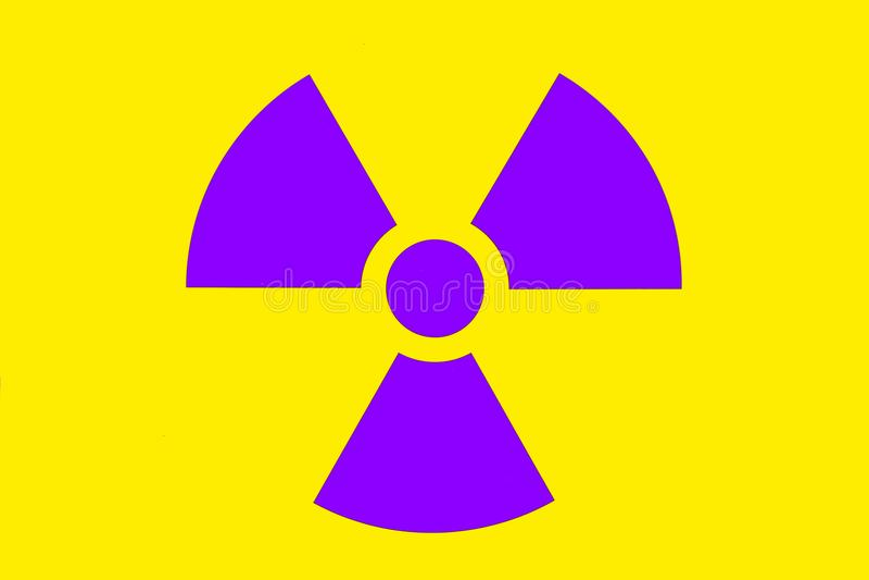 Προειδοποιητικό σημάδι ακτινοβολίας στοκ εικόνα με δικαίωμα ελεύθερης χρήσης