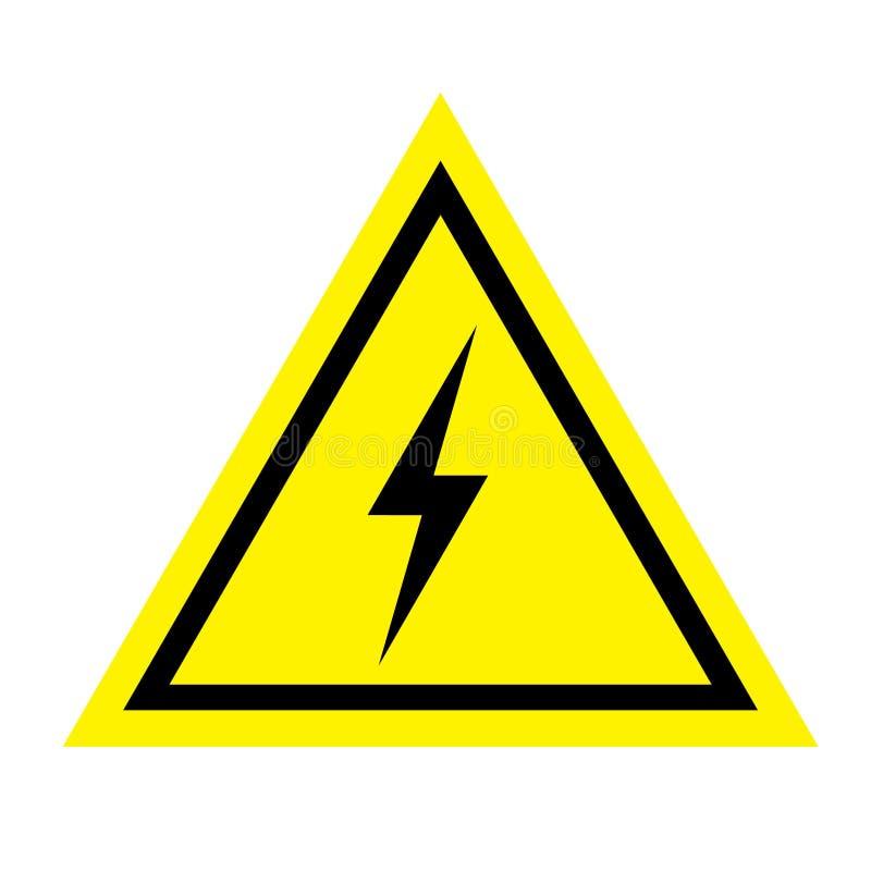 Προειδοποιητικό σημάδι του κινδύνου electricity διανυσματική απεικόνιση