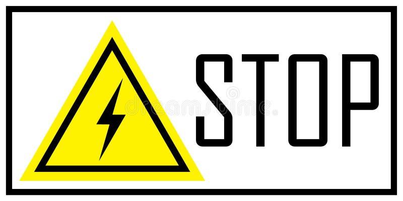 Προειδοποιητικό σημάδι του κινδύνου electricity ελεύθερη απεικόνιση δικαιώματος
