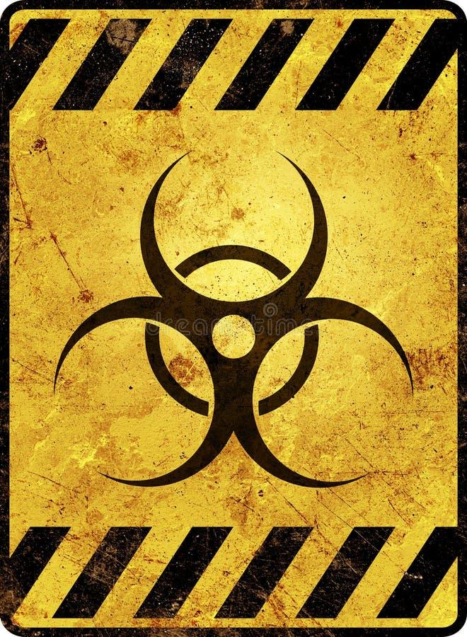 Προειδοποιητικό σημάδι Biohazard ελεύθερη απεικόνιση δικαιώματος
