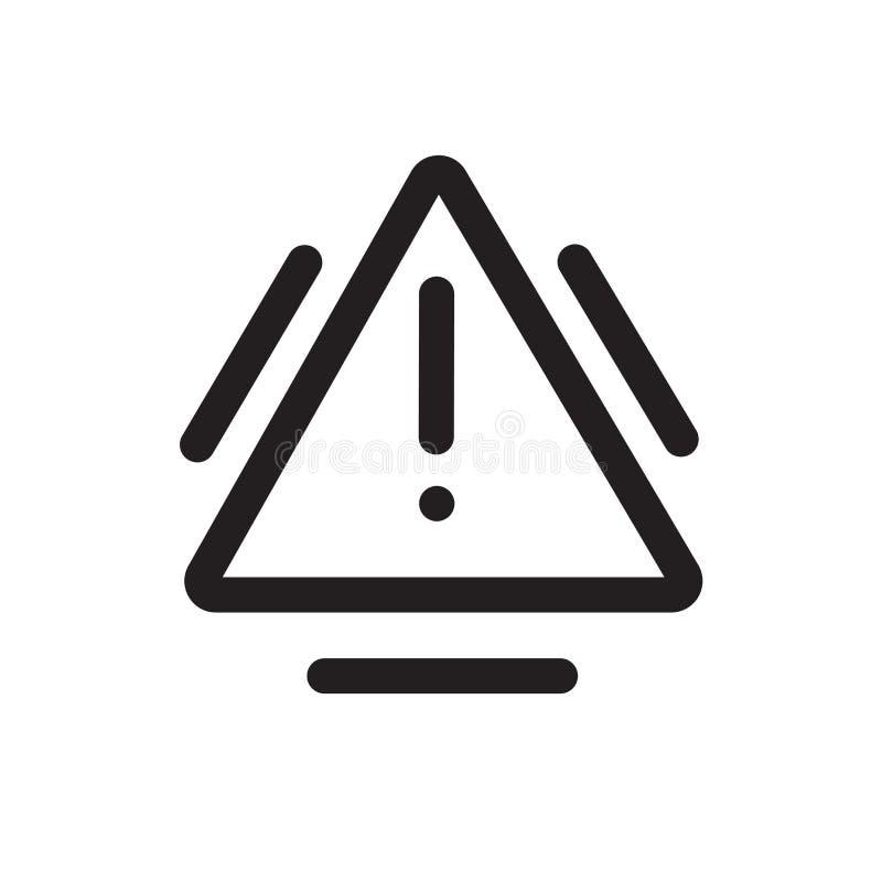Προειδοποιητικών σημαδιών σημάδι και σύμβολο εικονιδίων διανυσματικό που απομονώνονται στο άσπρο backg απεικόνιση αποθεμάτων