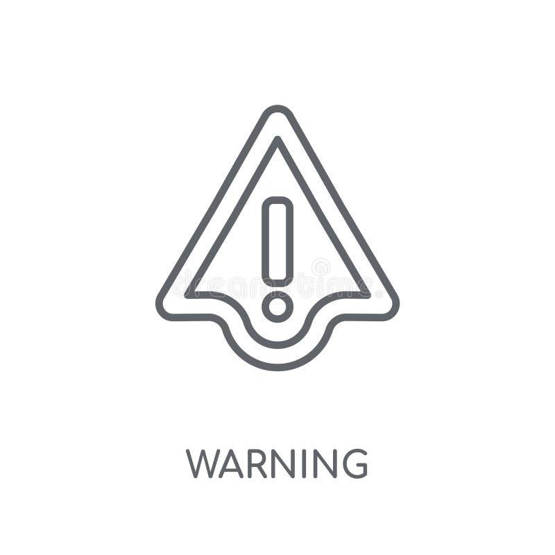 Προειδοποιώντας γραμμικό εικονίδιο Σύγχρονη έννοια λογότυπων προειδοποίησης περιλήψεων στο μόριο ελεύθερη απεικόνιση δικαιώματος