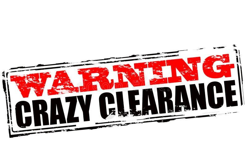 Προειδοποιώντας τρελλή εκκαθάριση διανυσματική απεικόνιση