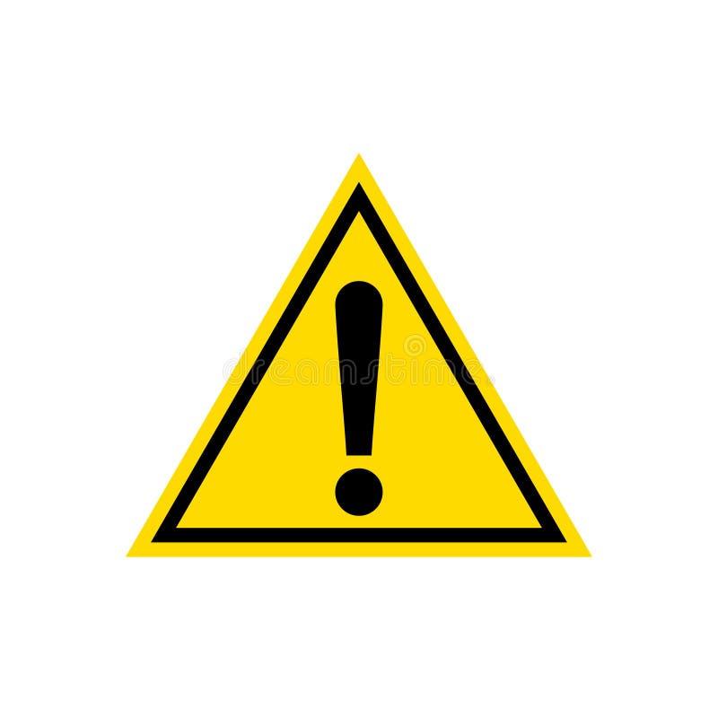 Προειδοποίηση, κίτρινο εικονίδιο σημαδιών τριγώνων προσοχής, που απομονώνεται στο άσπρο υπόβαθρο απεικόνιση αποθεμάτων