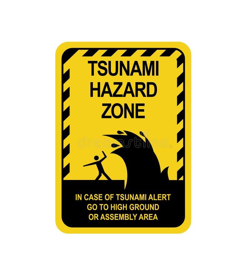 Προειδοποίηση σημαδιών ενός τσουνάμι απεικόνιση αποθεμάτων