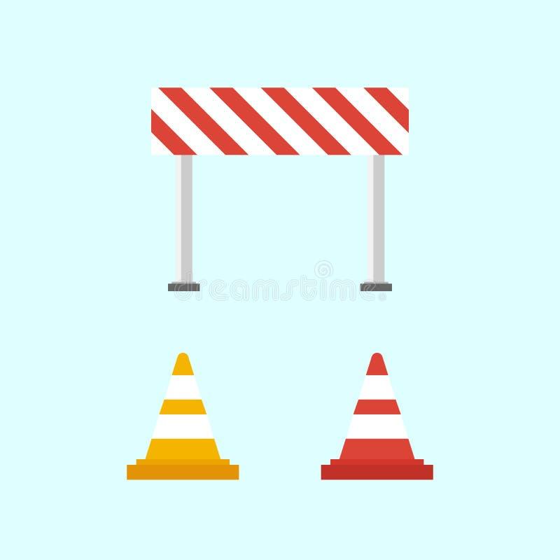 Προειδοποιητικά σημάδια οδική καθορισμένη κυκλοφορία περιφράξεων κώνων χρώματος στοκ εικόνες με δικαίωμα ελεύθερης χρήσης