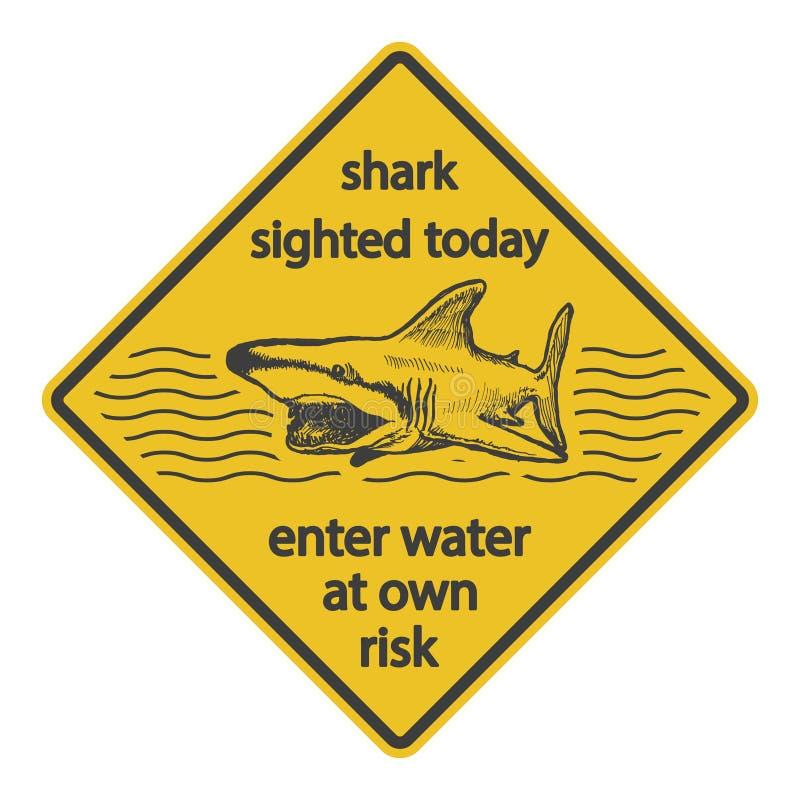 Προειδοποιητικό σημάδι επίθεσης καρχαριών Grunge eps8 απεικόνιση αποθεμάτων