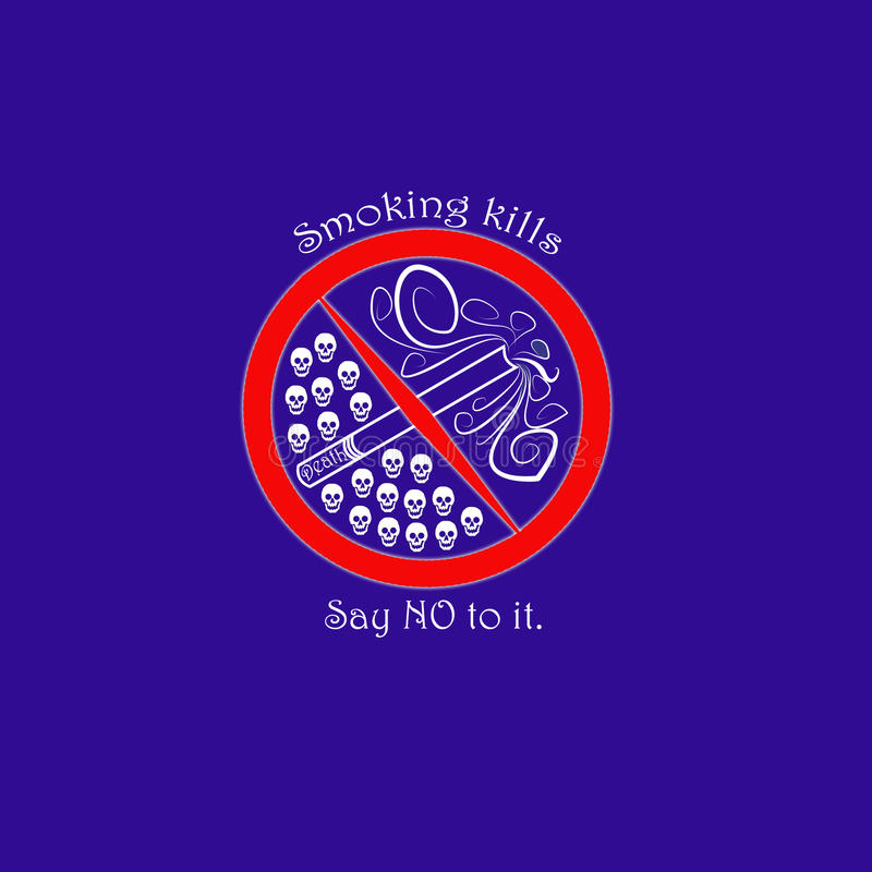 Προειδοποιητικό σημάδι: θανατώσεις καπνίσματος στοκ φωτογραφία με δικαίωμα ελεύθερης χρήσης