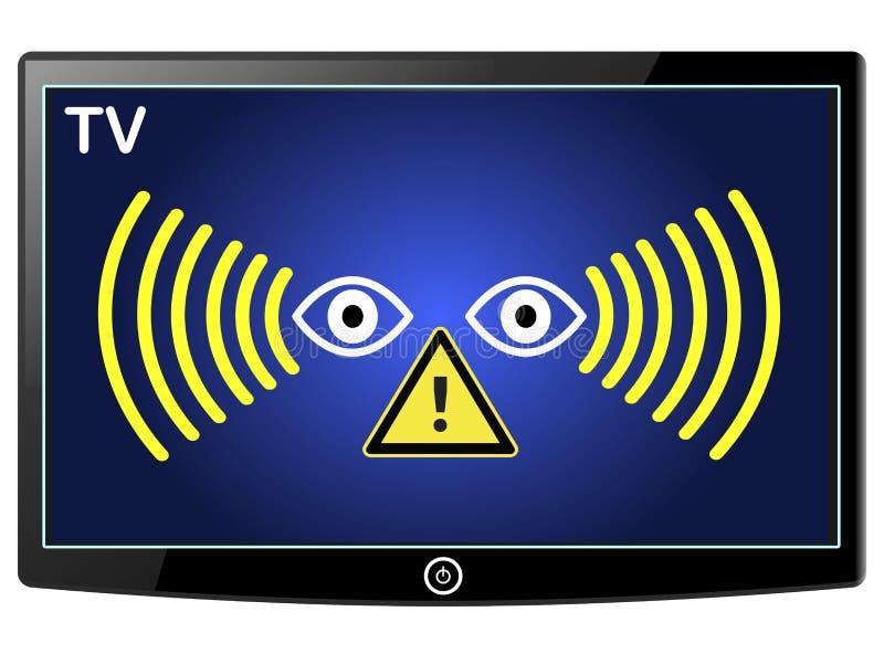 Προειδοποιώντας έξυπνος κατάσκοπος TV ελεύθερη απεικόνιση δικαιώματος