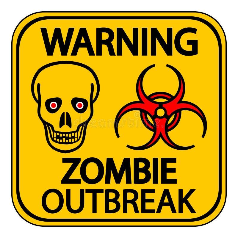 Προειδοποιώντας zombie ξέσπασμα ελεύθερη απεικόνιση δικαιώματος