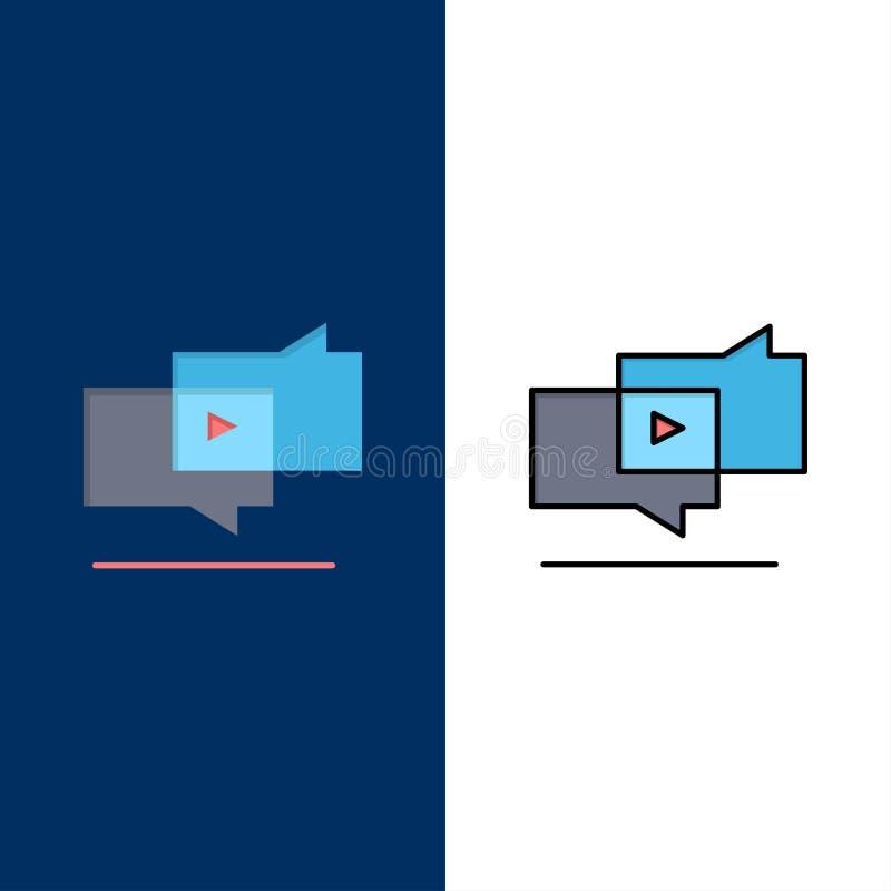 Προερχόμενο από ιό, εμπορικό, προερχόμενο από ιό μάρκετινγκ, ψηφιακά εικονίδια Επίπεδος και γραμμή γέμισε το καθορισμένο διανυσμα διανυσματική απεικόνιση