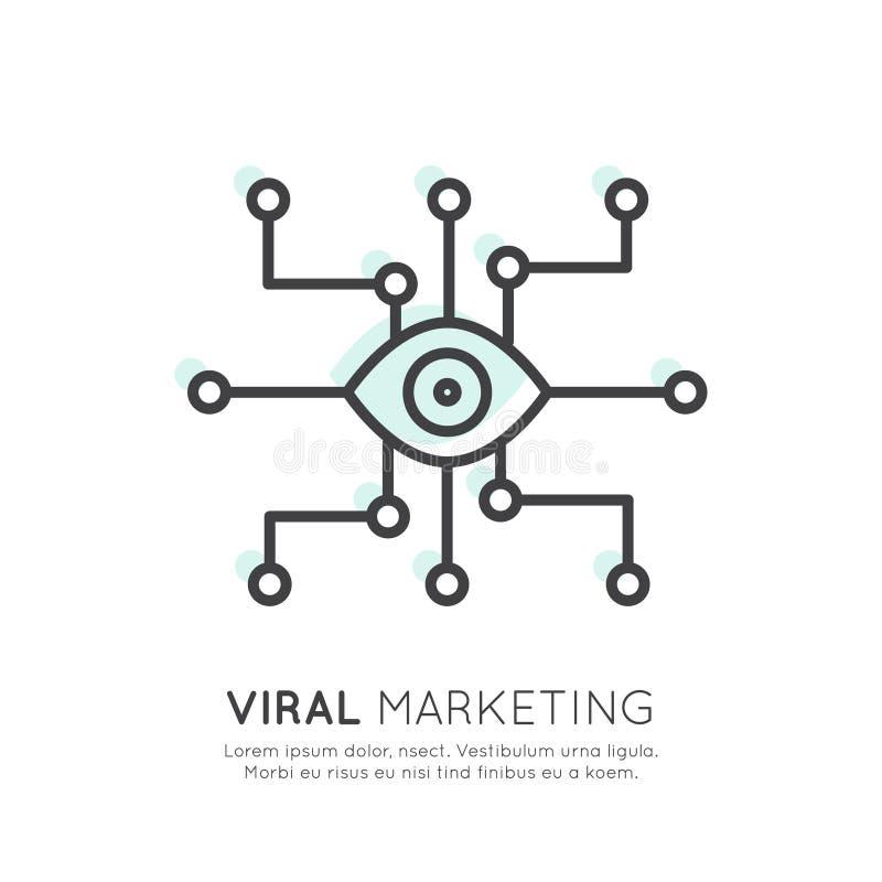 Προερχόμενο από ιό τηλεοπτικό μάρκετινγκ, ηλεκτρονικό ταχυδρομείο Διαδικτύου ή κινητές ανακοινώσεις ελεύθερη απεικόνιση δικαιώματος