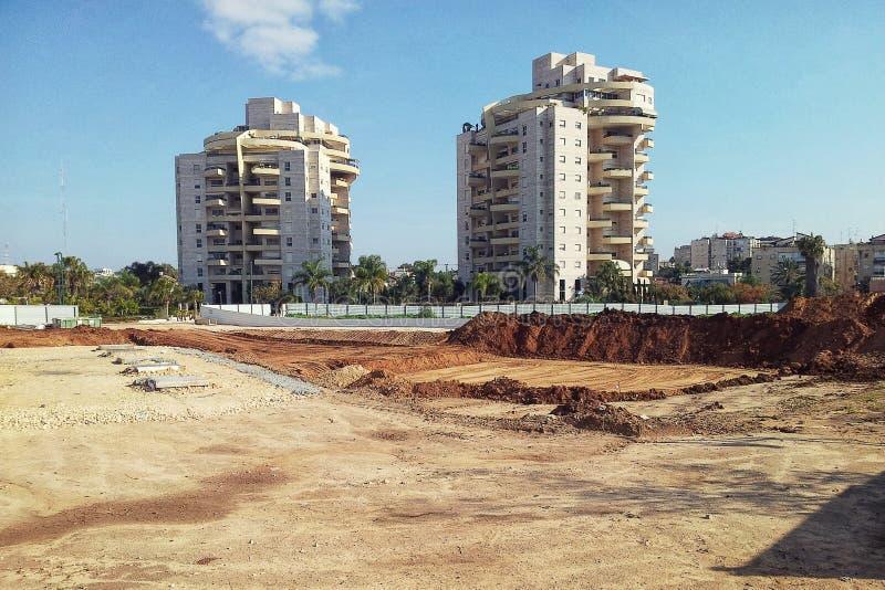 Προετοιμασία περιοχών για την κατασκευή 15 πύργος κατοικιών ιστορίας στοκ φωτογραφία με δικαίωμα ελεύθερης χρήσης