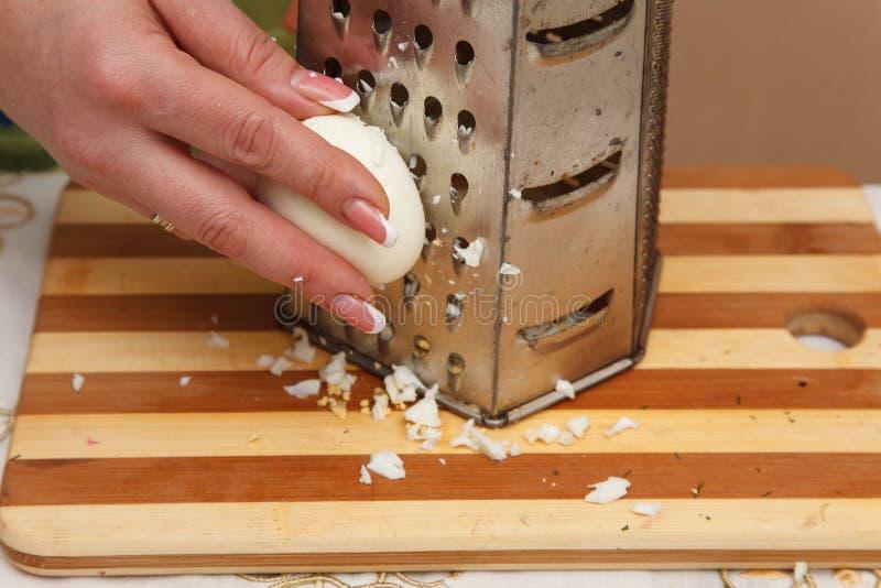 Προετοιμασία τροφίμων - αυγό κιγκλιδωμάτων στοκ εικόνα