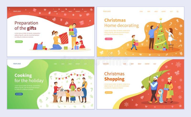 Προετοιμασία των δώρων Χριστουγέννων, διακόσμηση του δέντρου ελεύθερη απεικόνιση δικαιώματος