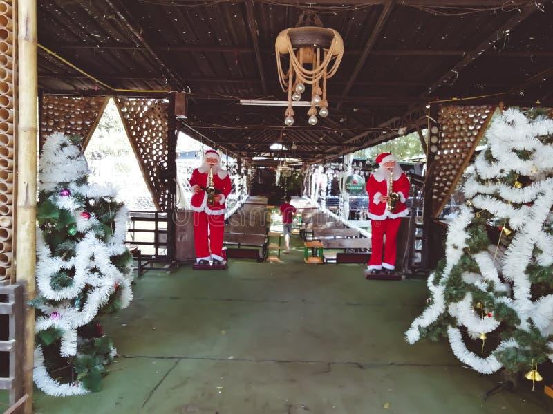 Προετοιμασία των Χριστουγέννων στο Vientiane, Λάος 2019 στοκ φωτογραφίες με δικαίωμα ελεύθερης χρήσης