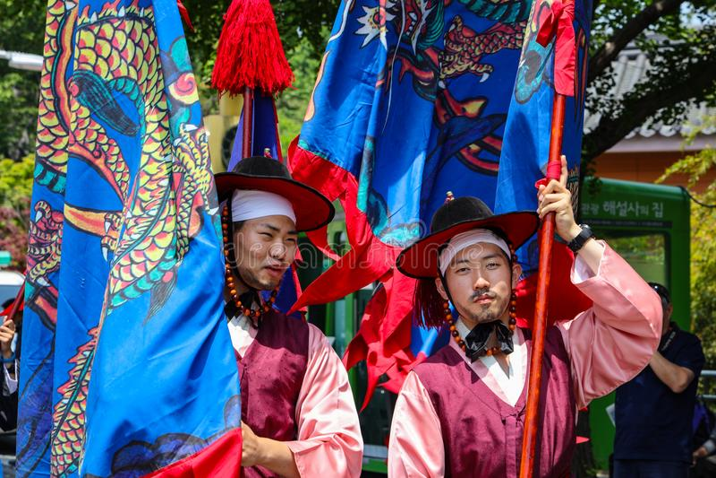 Προετοιμασίες παρελάσεων στη Νότια Κορέα στοκ φωτογραφία με δικαίωμα ελεύθερης χρήσης
