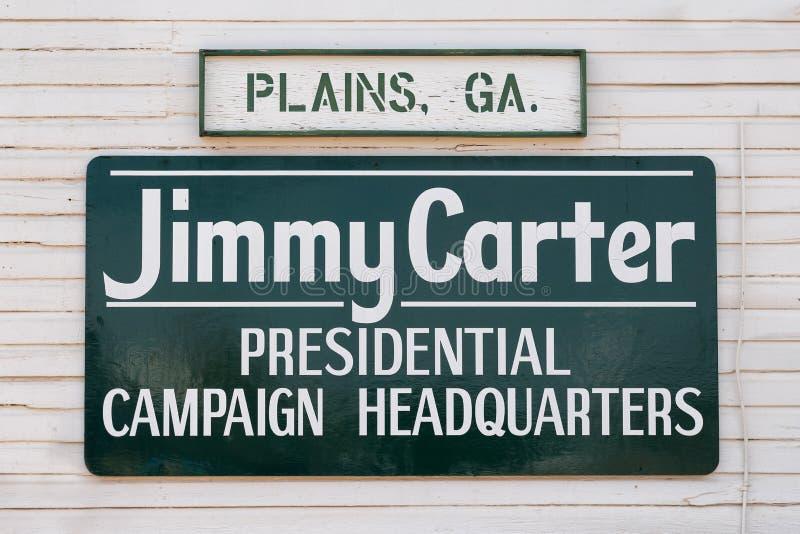 Προεδρική έδρα εκστρατείας του Carter στοκ φωτογραφία με δικαίωμα ελεύθερης χρήσης