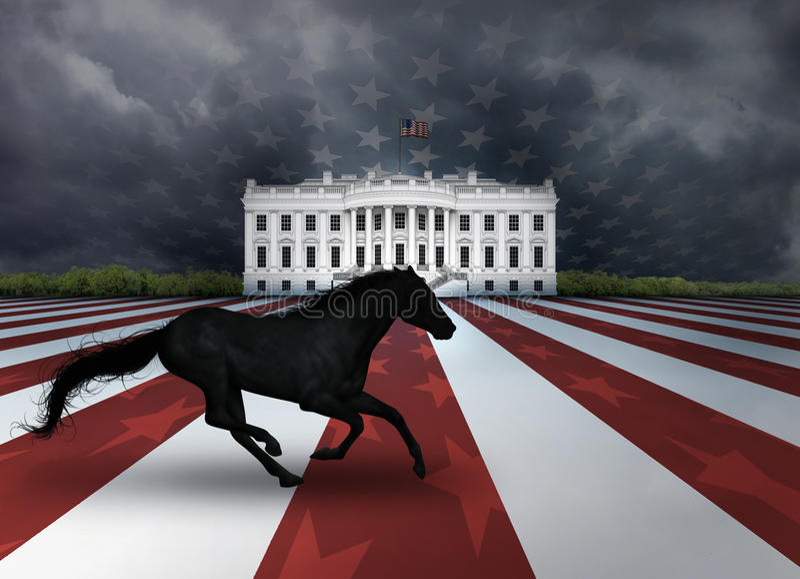 Προεδρικό σκοτεινό άλογο διανυσματική απεικόνιση