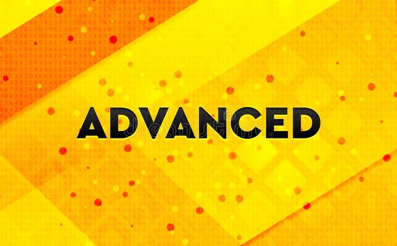 Προηγμένο αφηρημένο ψηφιακό κίτρινο υπόβαθρο εμβλημάτων ελεύθερη απεικόνιση δικαιώματος