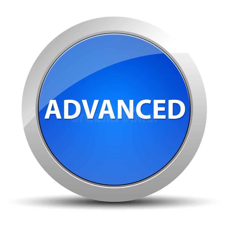 Προηγμένο μπλε στρογγυλό κουμπί ελεύθερη απεικόνιση δικαιώματος