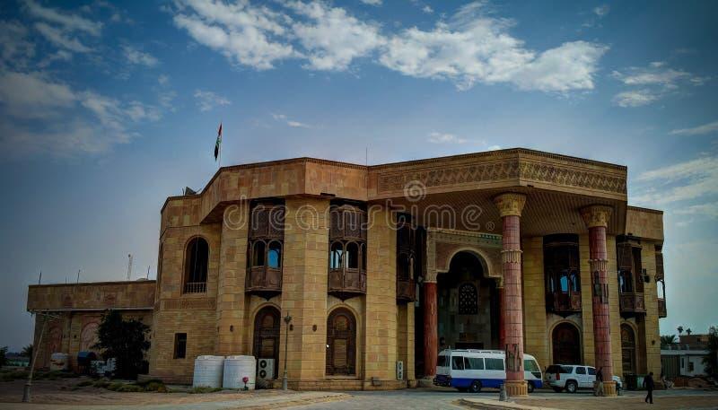 Προηγούμενο μουσείο παλατιών του Σαντάμ Χουσεΐν τώρα, Βασόρα, Ιράκ στοκ εικόνες