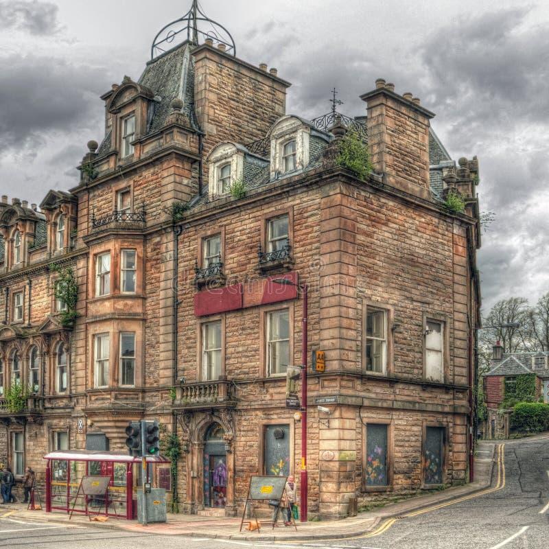 Προηγούμενο ξενοδοχείο σε Crieff, Σκωτία, σε HDR στοκ εικόνες
