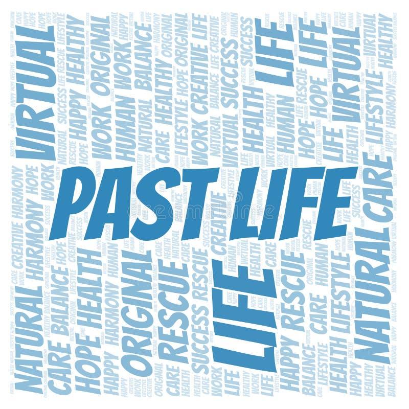 Προηγούμενο σύννεφο λέξης ζωής απεικόνιση αποθεμάτων