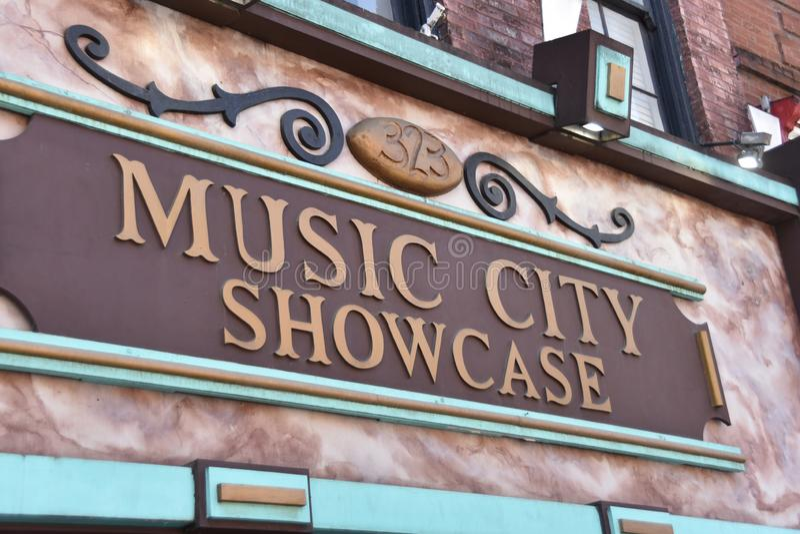 Προθήκη πόλεων μουσικής, Νάσβιλ Τένεσι στοκ φωτογραφία με δικαίωμα ελεύθερης χρήσης