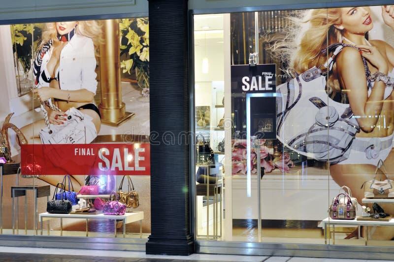 Προθήκη του Μακάου - λογότυπο πώλησης στοκ φωτογραφίες