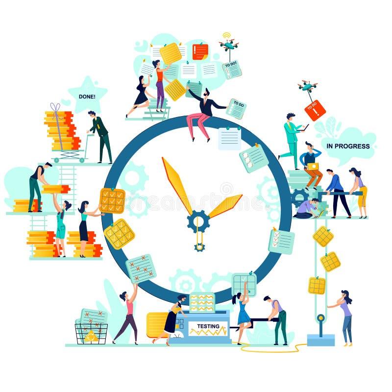 Προθεσμία, διάνυσμα επιχειρησιακής έννοιας χρονικής διαχείρισης ελεύθερη απεικόνιση δικαιώματος