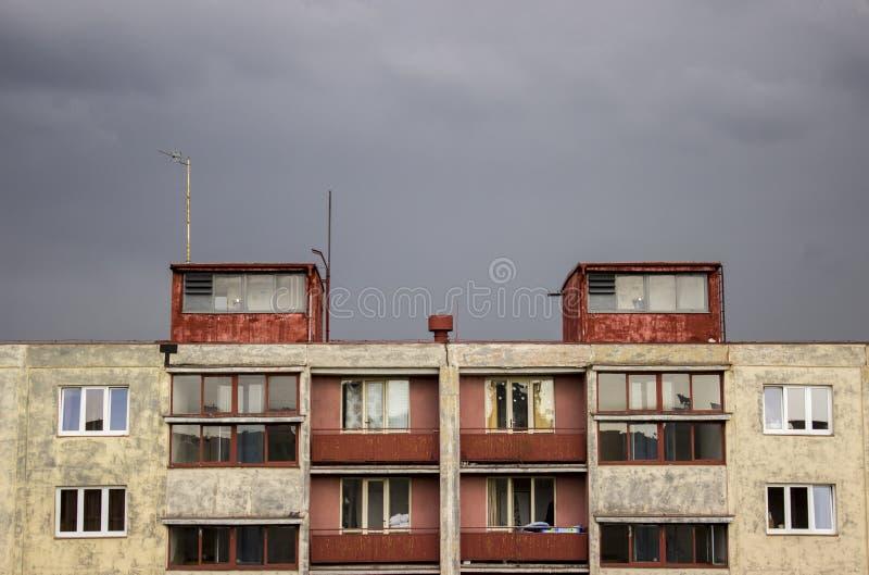 Προκατασκευασμένο σπίτι του σπουδαστή dorm στοκ εικόνα