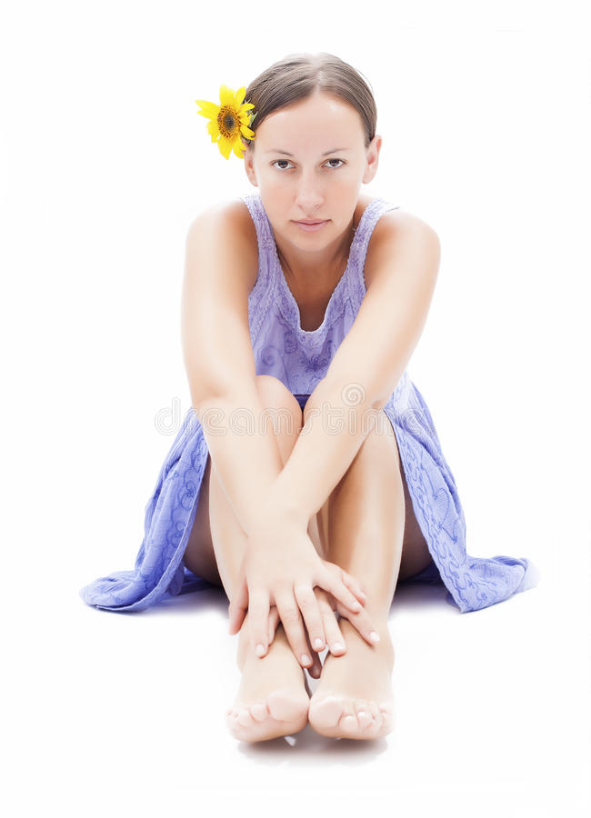 Προκλητικές γυναίκες ομορφιάς στην άσπρη ανασκόπηση στοκ φωτογραφία με δικαίωμα ελεύθερης χρήσης